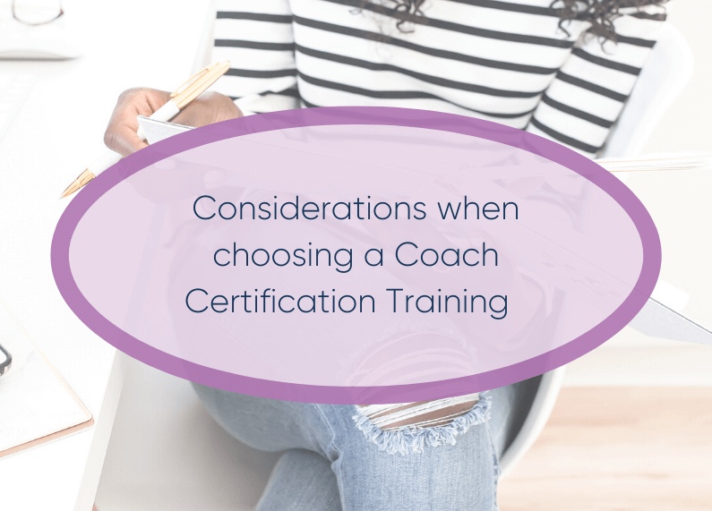 Considerations When Choosing Coach Training